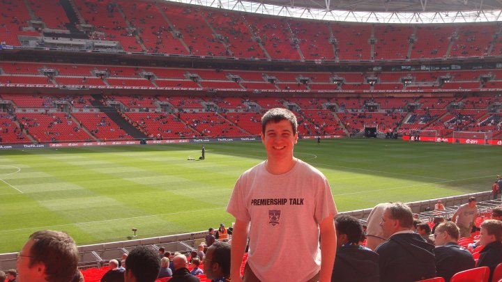 Me at Wembley Stadium in London to accept an award from the English Football Association
